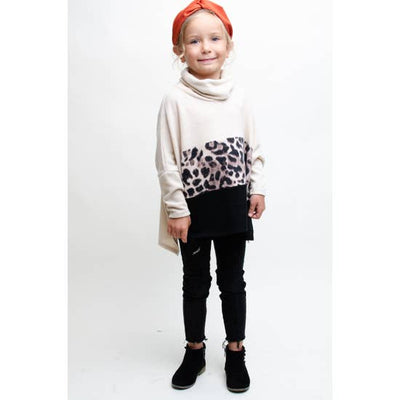 GIRLS ANIMAL PRINT PONCHO