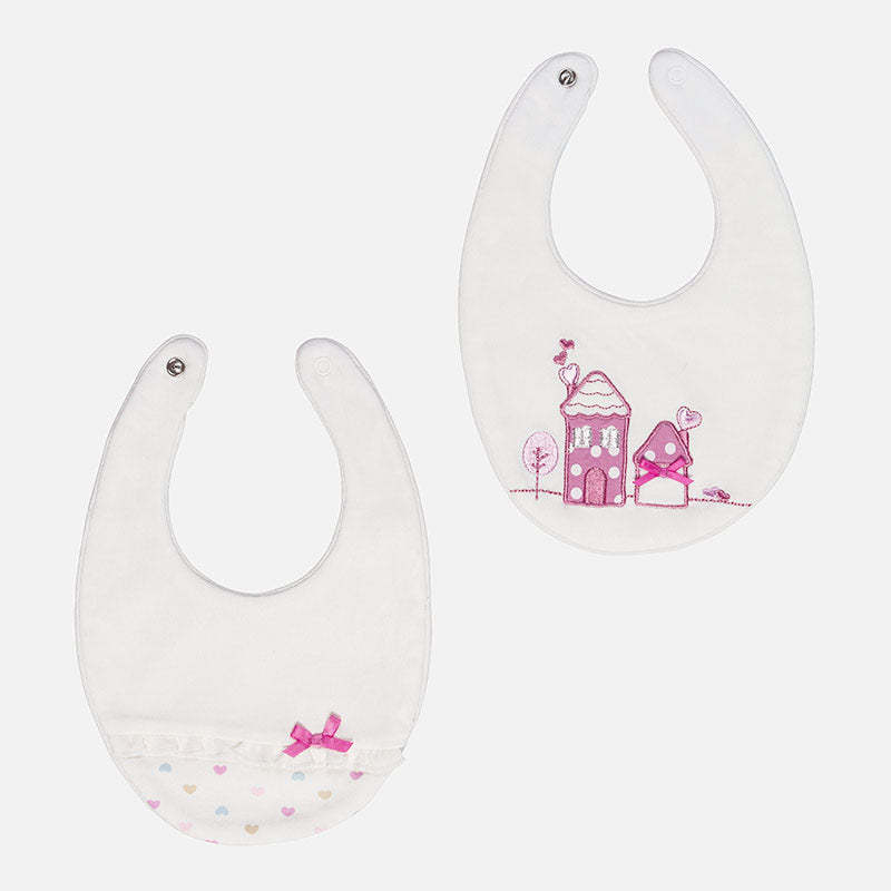 Mayoral, MAYORAL BABY GIRL 2 PACK BIBS - James & Olive