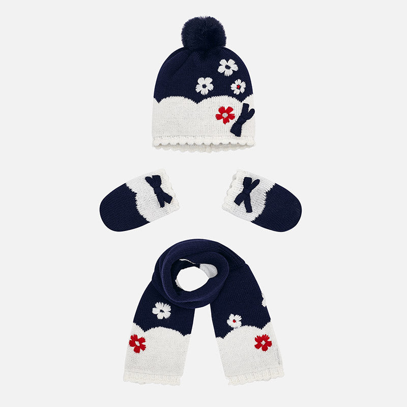 Mayoral, MAYORAL BABY GIRLS HAT, SCARF AND MITTENS SET - James & Olive