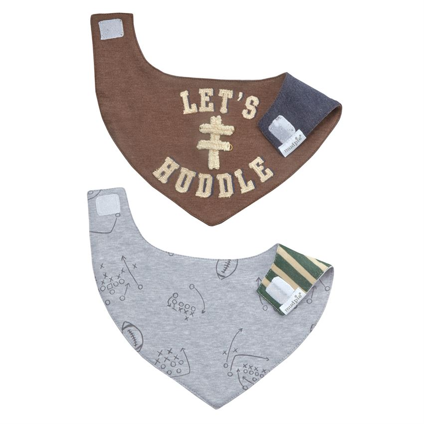 MUD PIE BABY BOYS FOOTBALL BANDANA BIB