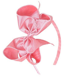 Bows Arts, BOWS ARTS GIANT DUPIONI SILK BOW ON HEADBAND - James & Olive
