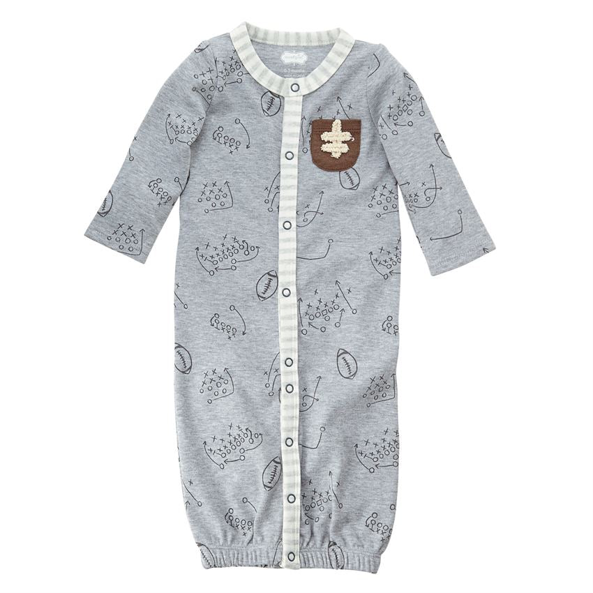 Mud Pie, MUD PIE BABY BOYS FOOTBALL CONVERTIBLE GOWN - James & Olive