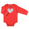 KAPITAL K BABY GIRLS GLITTERED HEART BODYSUIT