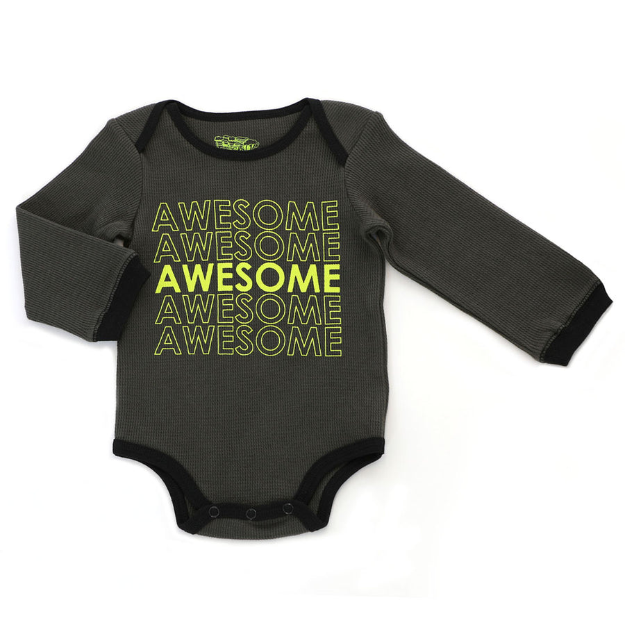 "Kapital K, KAPTIAL K BOYS ""AWESOME"" BODYSUIT - James & Olive"