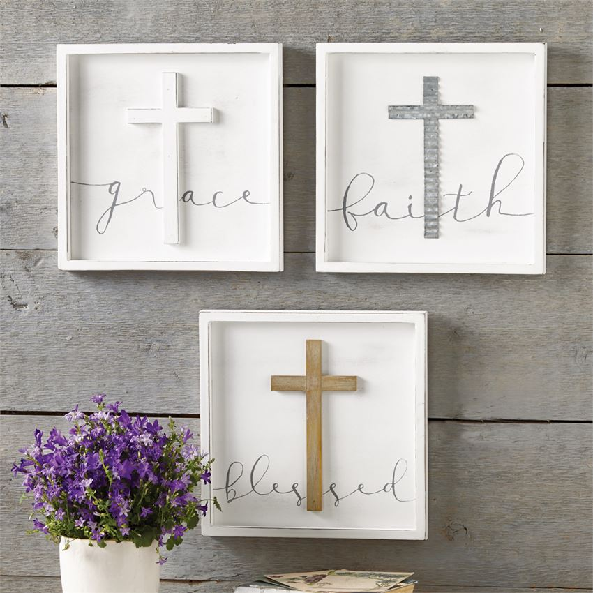 MUD PIE CROSS PLAQUES