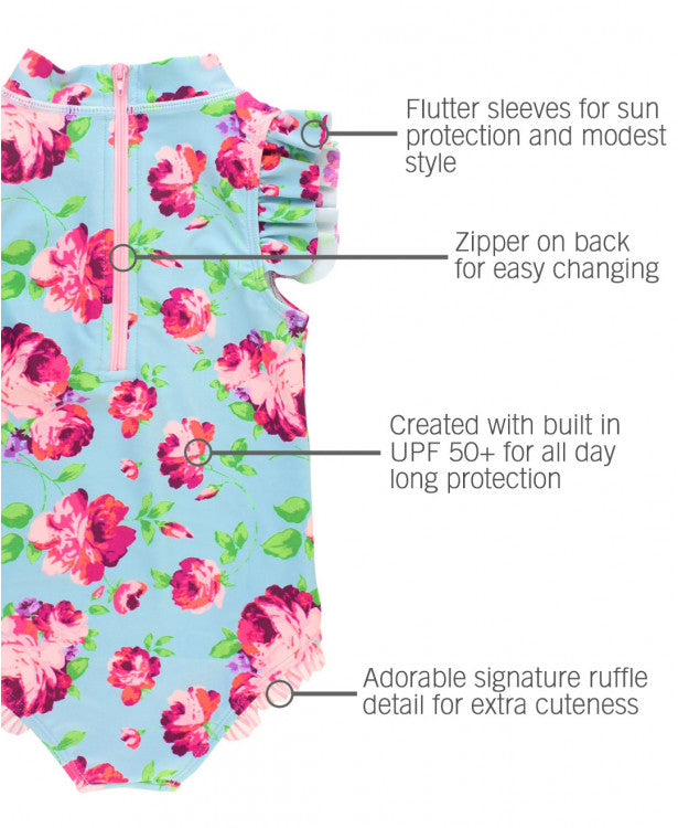 RUFFLE BUTTS GIRLS FLUTTER ONE PIECE
