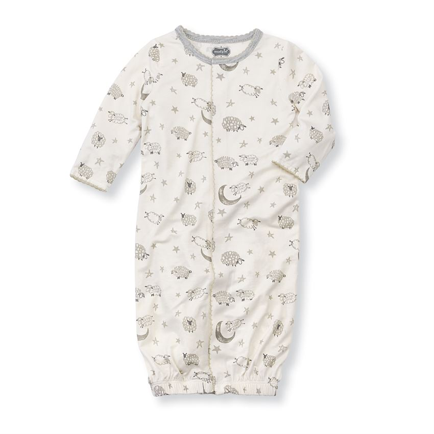 MUD PIE BABY COUNTING SHEEP GOWN