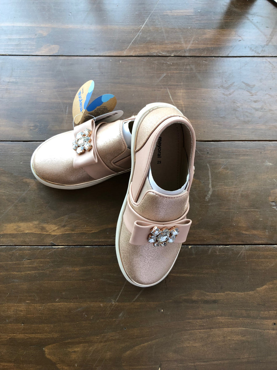 Mayoral, MAYORAL GIRLS JEWEL SLIP ON SHOES - James & Olive