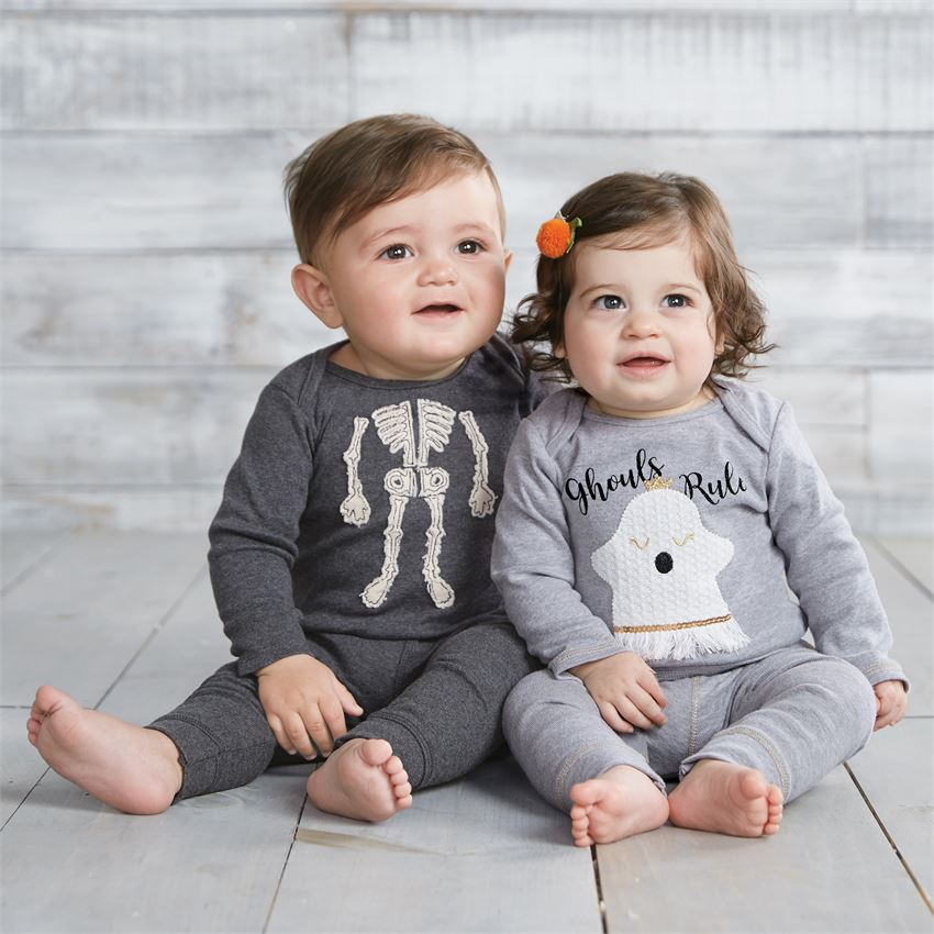 Mud Pie, MUD PIE UNISEX SKELETON 2-PIECE SET - James & Olive