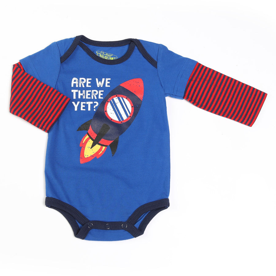 KAPITAL K BABY BOY ARE WE THERE YET? BODYSUIT-FINAL SALE
