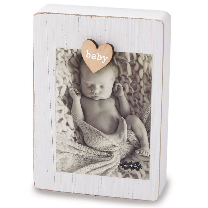 MUD PIE WHITE CLIP FRAME