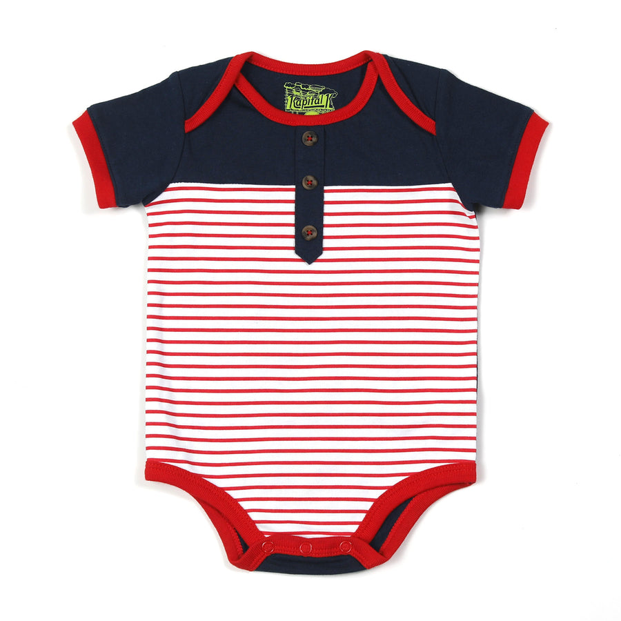 KAPITAL K BABY BOY COLORBLOCK BODYSUIT