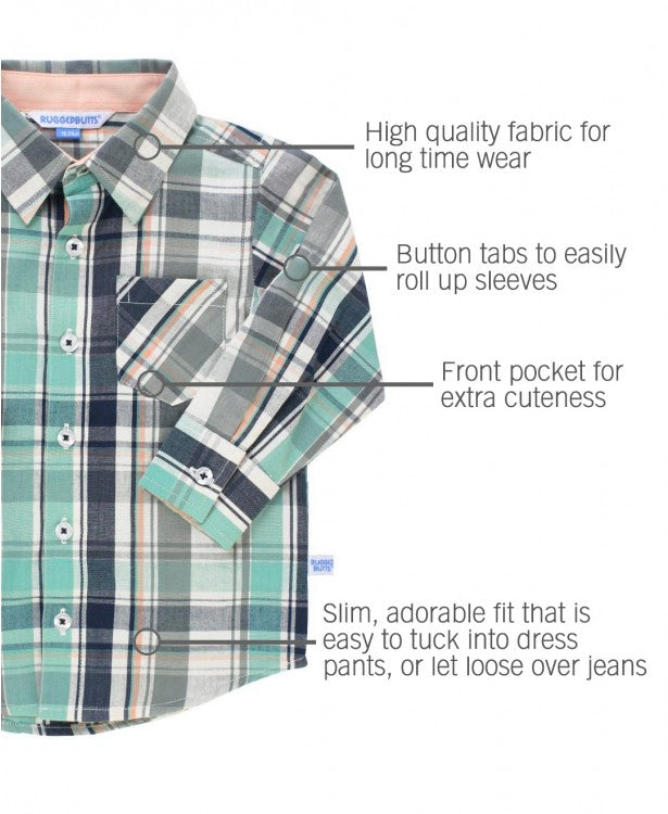 RUGGED BUTTS DAVID SHORT SLEEVE PLAID SHIRT