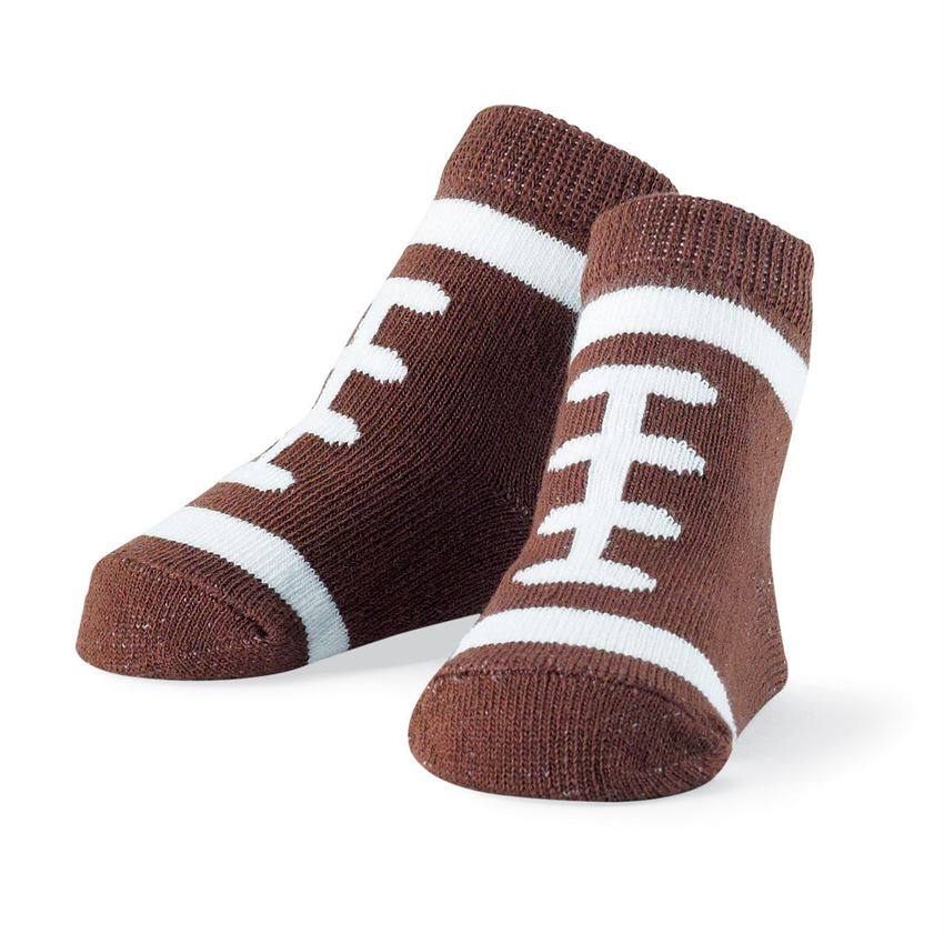 Mud Pie, MUD PIE BABY BOY FOOTBALL SOCKS - James & Olive