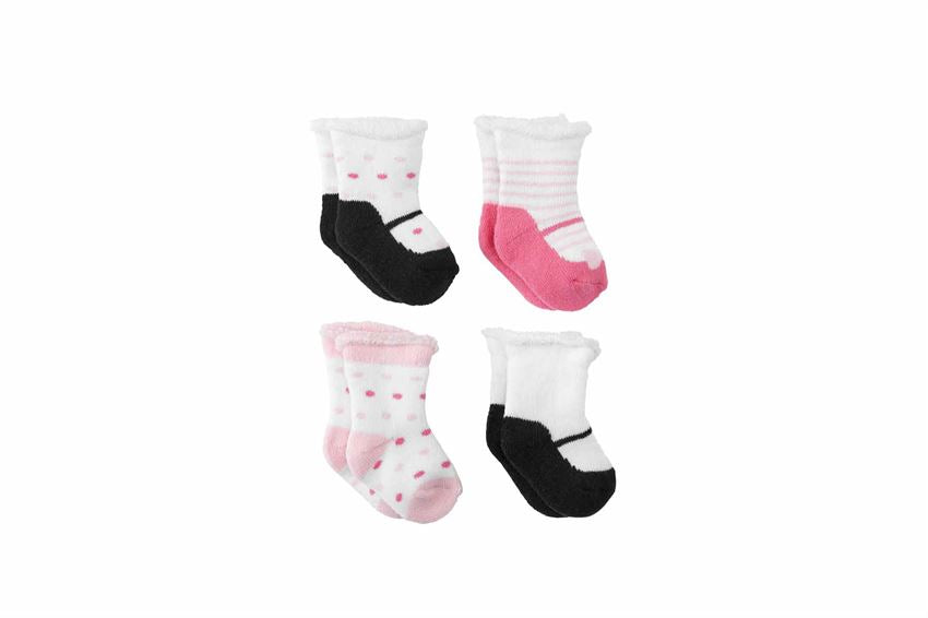 BABY GIRL MARY JANE NEWBORN SOCK SET