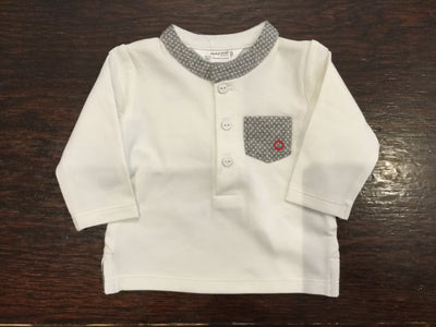 Mayoral, MAYORAL BABY BOY SHIRT WITH MANDARIN COLLAR - James & Olive