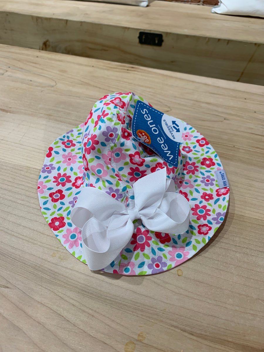 WEE ONES GIRLS REVERSIBLE SUN HAT