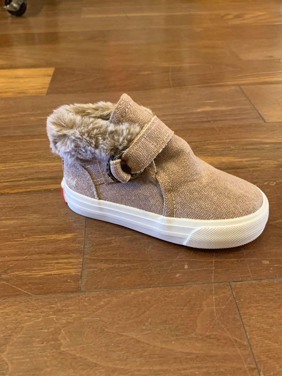 BLOWFISH MALIBU GIRLS FAUX FUR TRIM BOOTS
