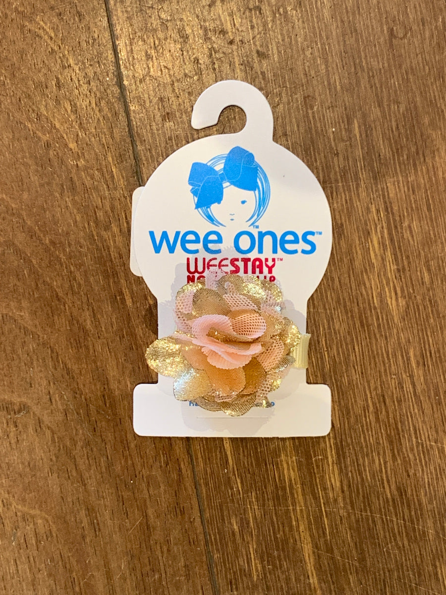 WEE ONES TINY MESH PUFF HAIR CLIP