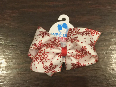 James & Olive, WEE ONES MINI KING HOLIDAY HAIR BOW - James & Olive