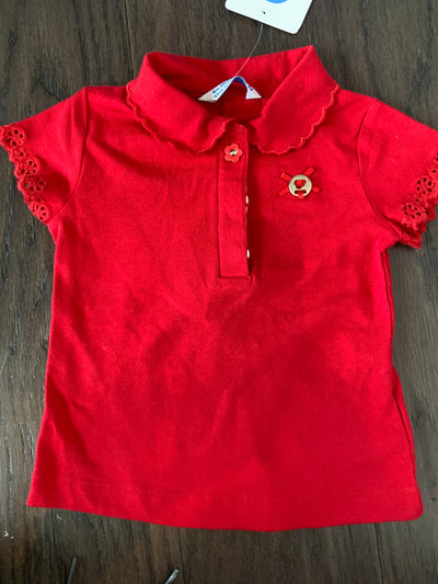MAYORAL BABY GIRLS SHORT SLEEVE POLO