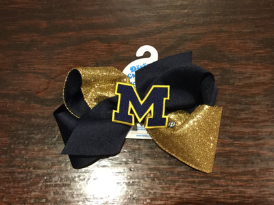 Wee Ones, WEE ONES GLITZ COLLEGE TEAM BOW - James & Olive
