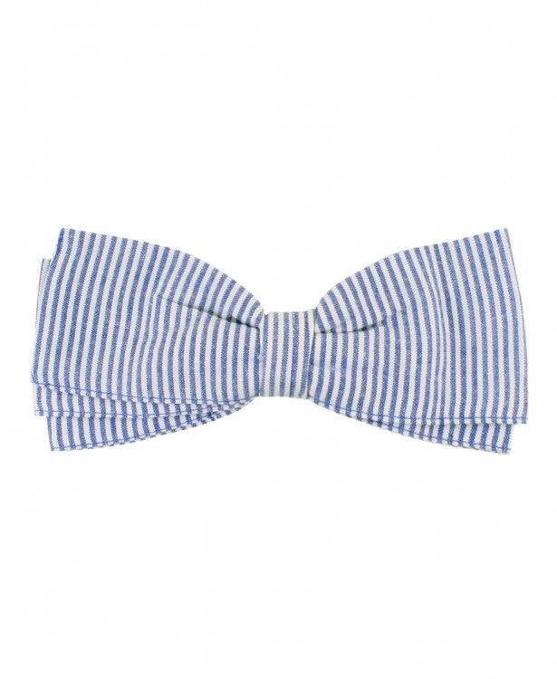 Ruffle Butts, RUFFLE BUTTS SEERSUCKER BOW CLIP - James & Olive