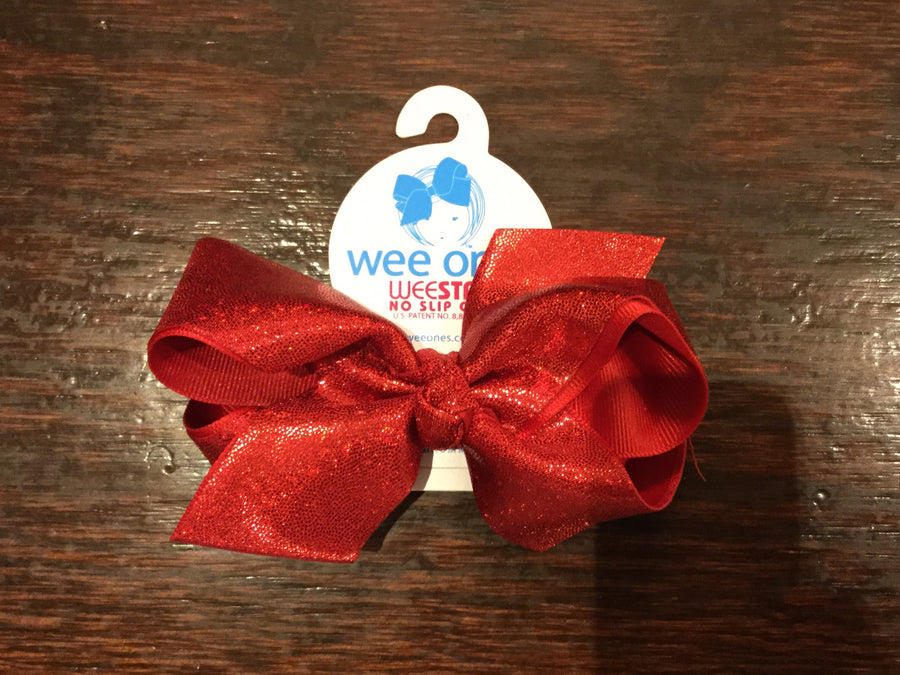 Wee Ones, WEE ONES HOLOGRAM GLITTER AND GROSGRAIN BOWS - James & Olive