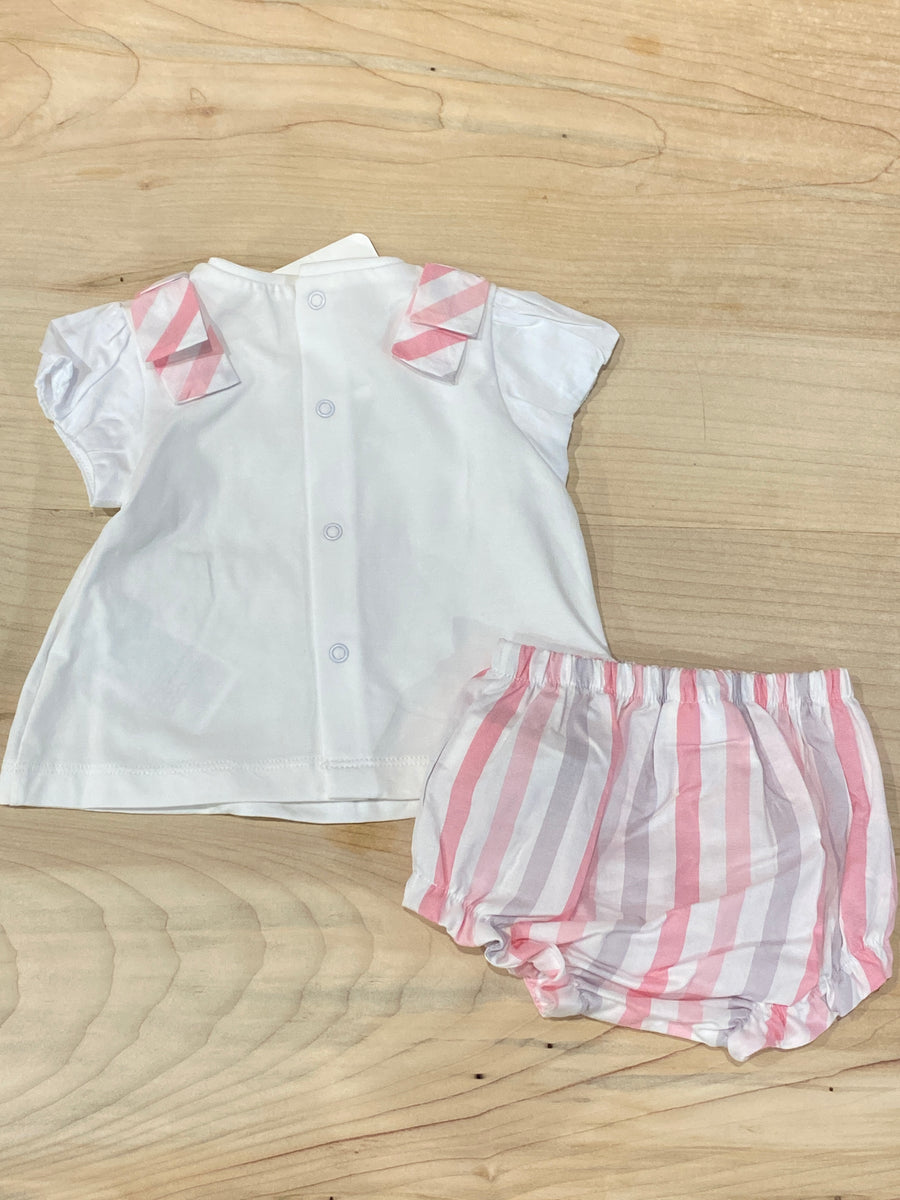 BABY GIRL STRIPED BLOOMER SET