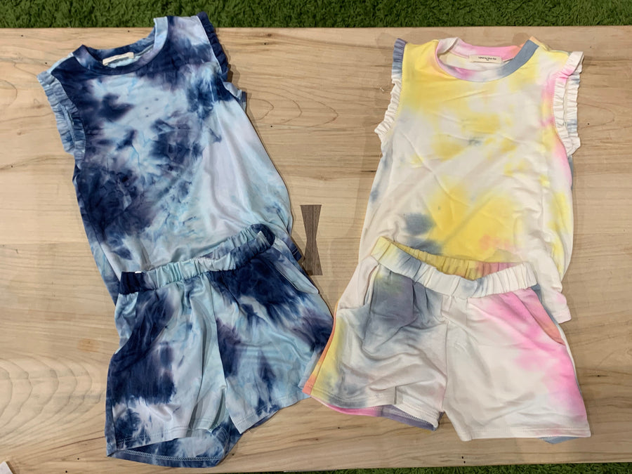 GIRLS TIE DYE LOUNGE WEAR SET