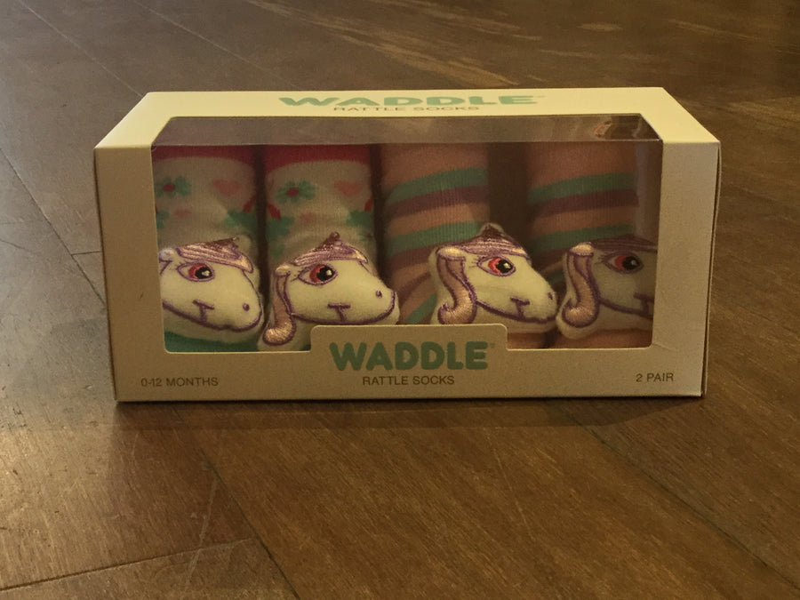 WADDLE BABY RATTLE SOCKS