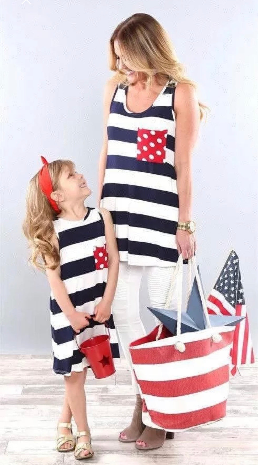 Mommy & Me Patriotic Shirt and Dress
