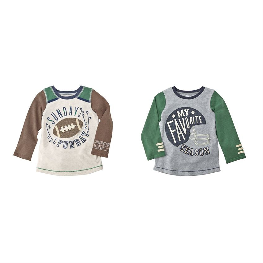 Mud Pie, MUD PIE BOYS FOOTBALL T-SHIRTS - James & Olive