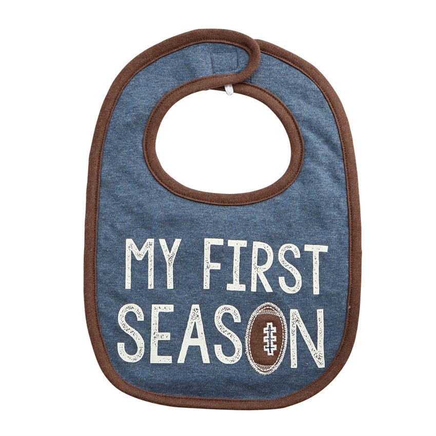 MUD PIE BABY BOYS FOOTBALL BIBS