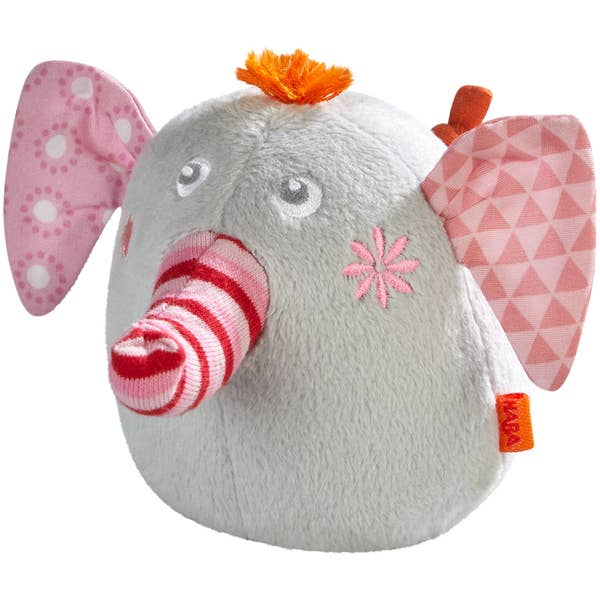 HABA NELLY THE ELEPHANT PLUSH RATTLE