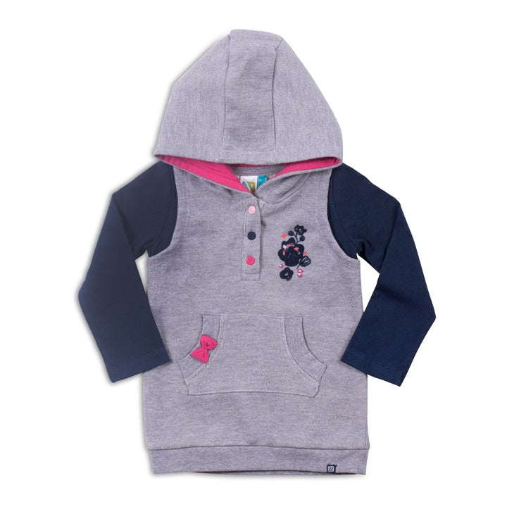 Noruk, NORUK BABY GIRLS HOODED TUNIC - James & Olive