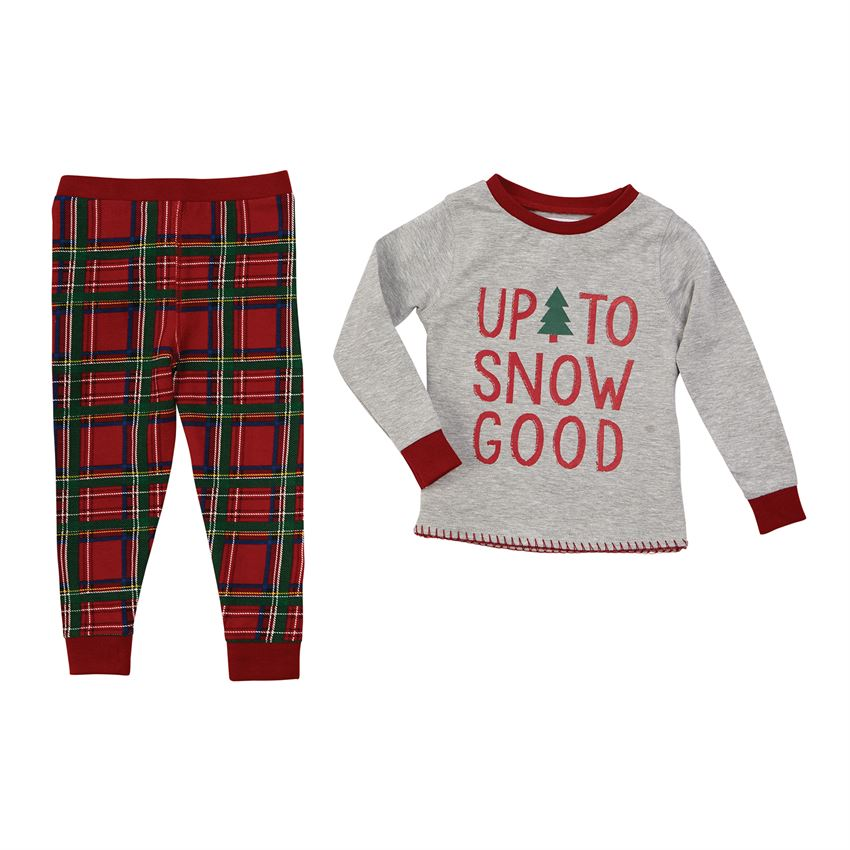 MUD PIE BOYS TARTAN PLAID CHRISTMAS PAJAMAS