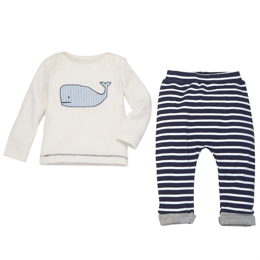 MUD PIE BABY BOY WHALE SET