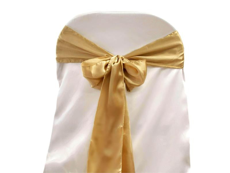 Satin Chair Cover Sash Knot for Wedding Events Party Sash Bow