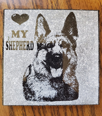 Love Shepherd Coaster