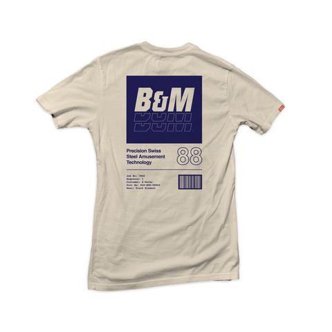 """B&M"" Steel Coaster Tee - Back"
