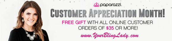 November is Customer Appreciation Month with Paparazzi!!!!