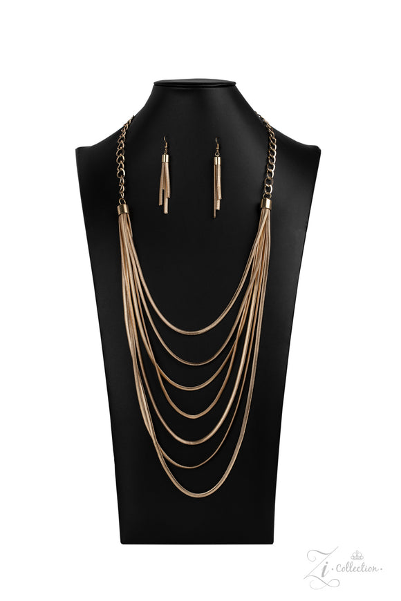 Commanding 2020- Paparazzi Exclusive Zi Collection Gold Necklace - Paparazzi Accessories