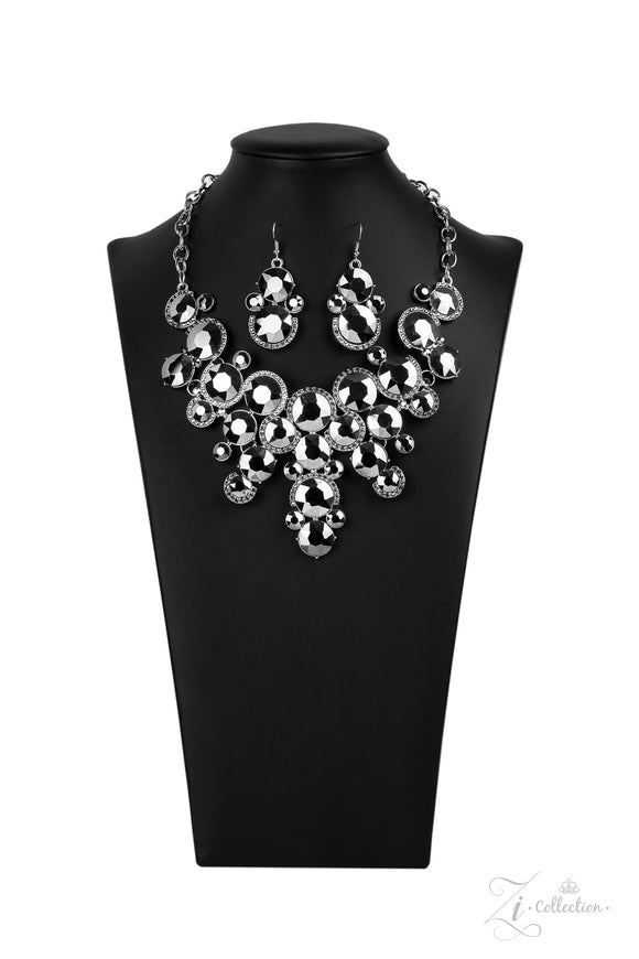 Fierce 2020- Paparazzi Exclusive Zi Collection Hematite Necklace - Paparazzi Accessories