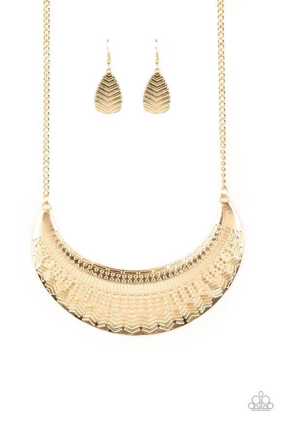 Large As Life - Gold Necklace - Bling By Danielle Baker