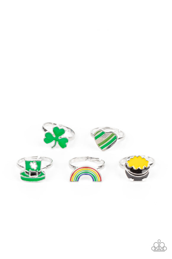 Kids Starlet Shimmer - St. Patrick's Day Theme Rings 5 Pack- Bling By Danielle Baker