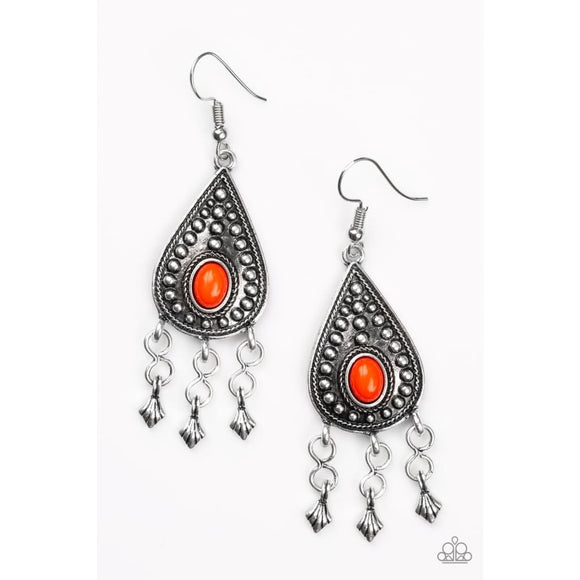 Sahara Song Red Earrings - Paparazzi Accessories - Danielle Baker's Bling Jewelry Boutique