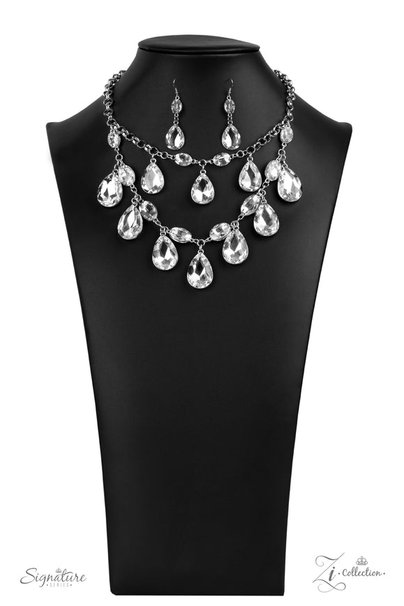 The Sarah 2020- Paparazzi Exclusive Zi Collection Pearl Necklace & Matching Earrings