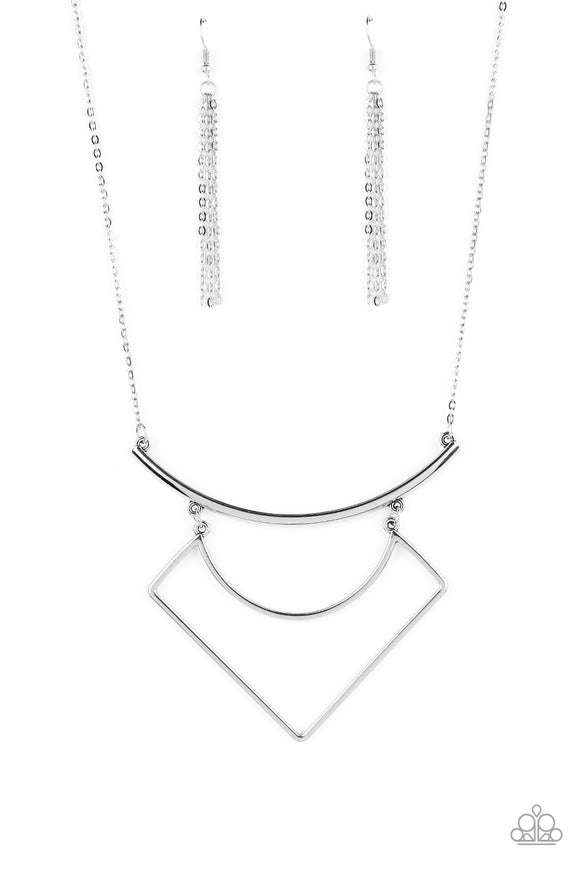 Egyptian Edge - Silver Necklace - Paparazzi Accessories