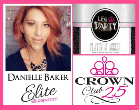Danielle Baker- Elite Paparazzi Consultant and Leader Crown Club 25 Life of the Party Platinum
